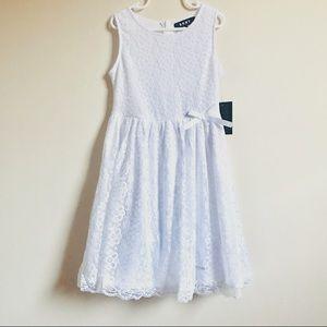 🆕 DKNY White Lace Summer Dress Size 7